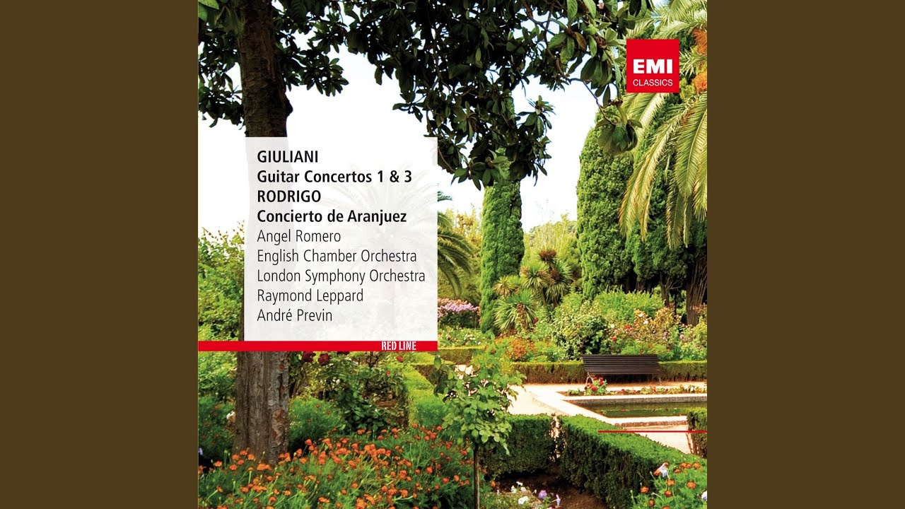 アンヘル・ロメロが弾くジュリアーニの『ギター協奏曲op30より第1楽章』 イギリス室内管弦楽団との共演