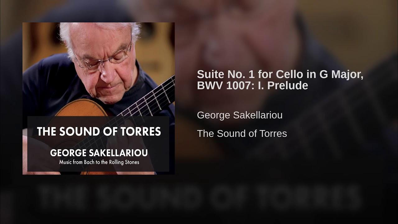 ジョージ・サケラリオウが弾くバッハの『プレリュード』 チェロ組曲第1番より